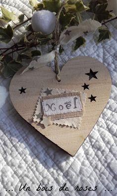 Cœur de noël en bois