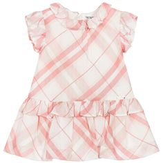 Mayoral Chic - Baby Girls Pink Check Dress & Knickers   Childrensalon