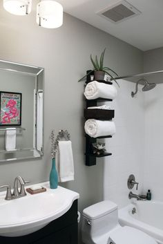 Over the toilet shelving