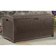 ThisDeck Storage Box has 99 gallons of storage space, you can load up theDeck Storage Box in Mocha Brown. Mocha finish with woven-style inlays. Color : Mocha Brown. Stay-dry design; 99 gallon storage. | eBay!