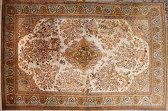 Qum Silk  rug  size approximately 4ft. 5in. x 7ft. 4in.