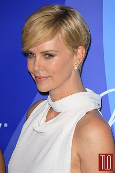 Charlize Theron hair - 3/4 view