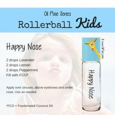 Nose, Rollerball blends for kids, essential oils