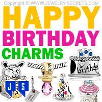 ►► HAPPY BIRTHDAY CHARM BEADS ►► Jewelry Secrets