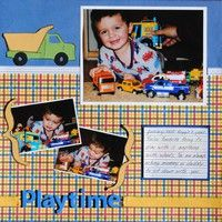 Playtime--A Project by reggiesmom from our Scrapbooking Gallery originally submitted 02/17/10 at 02:48 PM