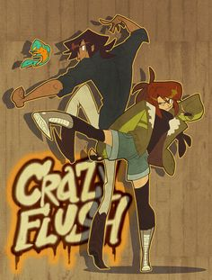 Crazy Flush: Kickin' It by *nargyle on deviantART https://www.facebook.com/CharacterDesignReferences