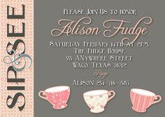 Sip and See Baby Shower Sip And See Invitations, Baby Shower Invitations, Baby Tea, Baby Baby, Sip N See, I Love Coffee, Jelly Beans, Gender Reveal, Future Baby