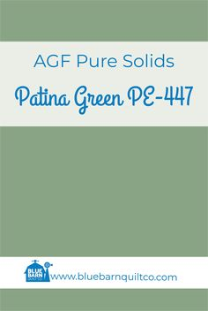 $18 CAD per yard AGF Pure Solids Patina Green PE-447. Premium PIMA Cotton 44″ wide, The purest hues meet Art Gallery Fabrics' soft hand and superior quality. All the solids you have been looking for to match your collections are here! Sold by the 1/4 yard or in Fat Quarters, ships to Canada and USA.   #agfsolids #agfpuresolids #longarmquilting  #ilovequilting #quiltersdream  #colorful #forsale #fabriclove #canadianquiltshop #sewcanadian #onlinequiltshop #onlinequiltstore #onlinefabricshop AG Met Art Galleries, Art Gallery Fabrics, Longarm Quilting, Superior Quality, Fat Quarters, Quilt Patterns, Canada, Collections, Pure Products