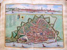 Nijmegen in vogelvlucht door Hendrik Feltman - 1669.