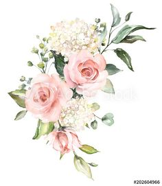 Similar Images, Stock Photos & Vectors of Watercolor Flowers Floral Illustration. Similar Images, Stock Photos & Vectors of Watercolor Flowers Floral Illustration Leaf Buds - 1032867733 Illustration Blume, Cute Illustration, Botanical Illustration, Watercolor Illustration, Watercolor Cards, Watercolor Flowers, Watercolor Drawing, Arte Floral, Floral Illustrations