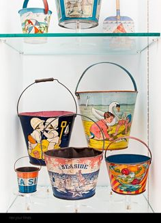 I loved getting a new pail (or even a used one) to take to the beach. The shovels bent easily and rusted though.