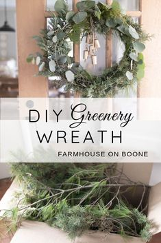 See how I made this DIY wreath for Christmas with fresh greenery clippings and eucalyptus. Includes video tutorial for how to make a fresh Christmas wreath Christmas Greenery, Christmas Wreaths To Make, Christmas Bells, All Things Christmas, Christmas Holidays, Christmas Crafts, Christmas Decorations, Christmas Ornaments, Simple Christmas