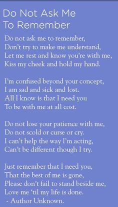 Alzheimer's prayer ...can't stop crying