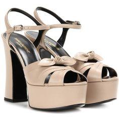 Saint Laurent Candy 80 Leather Platform Sandals
