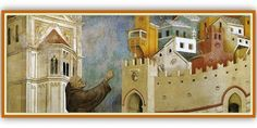STORIES OF SAINT FRANCIS: Cycle pictorial fresco, Upper Basilica in Assisi, Italy | Meeting Benches