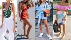 Check out latest summer outfits for ladies and cute women who want to wear something amazing and unique. Check 20 hot summer outfits for girls and lovely women. Late Summer Outfits, Outfits Spring, Girl Outfits, Cute Outfits, Fashion Outfits, Cute Hiking Outfit, Summer Hiking Outfit, Athleisure, Fashion 2018