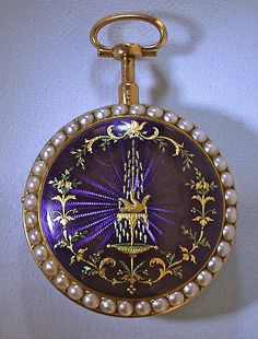 Bogoff Antique Pocket Watches Vaucher Pearl and Enamel Repeater - Bogoff Antique Pocket Watch # 6506