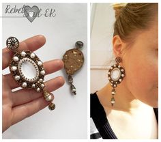 rebelsoulek earrings wedding jewlry handmade large size boho earrings natural perls beaded earrings https://www.etsy.com/listing/263347073