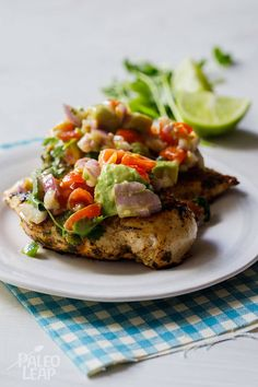 Cilantro-Lime Chicken with Avocado Salsa Recipe
