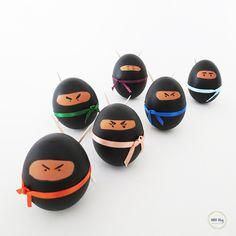 Make Ninja eggs for Easter | Ohoh Blog - diy and crafts
