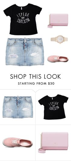 """""""Untitled #8"""" by lilianaferreira3107 ❤ liked on Polyvore featuring Dsquared2, Vans and Kate Spade"""
