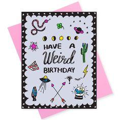 make it weird~❓🔍🗝🔮🕯⌛️🎲🎟🍾 . . . . . #stationery #greetingcards #graphicdesign #illustration #stationerydesign #illustrator #supportlocalart #supportsmallbusiness #greenpoint #williamsburg #brooklyn #brooklynart #happybirthday #getweird #weird #strangerthings #birthdaycard #hotpink #moonphases