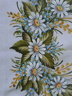 Fabric Paint Shirt, Fabric Painting On Clothes, Paint Shirts, Painted Clothes, Fabric Paint Designs, Beautiful Flowers Wallpapers, One Stroke Painting, Flower Tattoo Designs, Flower Wallpaper