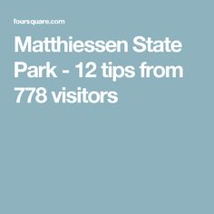 Matthiessen State Park - 12 tips from 778 visitors