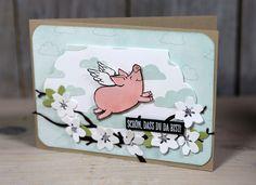 Grußkarte - Glücksschweinchen - Kreativ mit Stampin' Up!