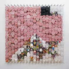 Art installation by Jacob Hashimoto