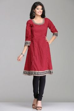 Gorgeous Beetroot Maroon A-Line Kurta By Farida Gupta