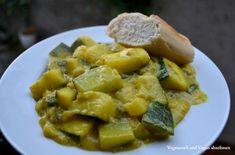 Zucchini Bananen Curry, Banane trifft Zucchini, Kokosmilch mit Banane und Zucchini