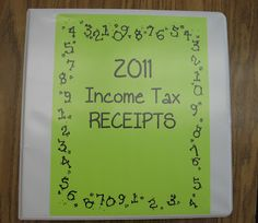 Organizing receipts   Finding JOY in 6th Grade