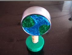 Make a tuna can Earth Globe-easy recycle craft how2