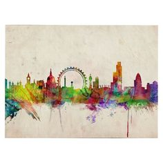 London Skyline Unframed Wall Canvas