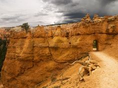 Photo: Storm clouds advance on the Queens Garden Trail in Bryce Canyon, Utah