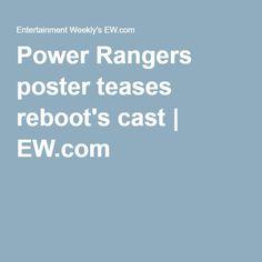 Power Rangers poster teases reboot's cast | EW.com