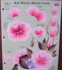 Donna Dewberry One Stroke RTG Rose Wreath Worksheet New | eBay