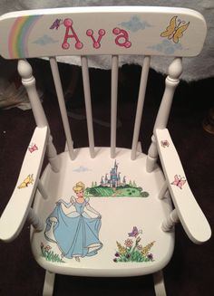 Wooden Rocking Chair by PersonalizedwithBess on Etsy, $125.00
