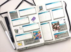Decided to redo my windows 98 inspired thread! Bullet Journal Month, Bullet Journal Cover Ideas, Bullet Journal Notebook, Bullet Journal School, Bullet Journal Spread, Bullet Journal Layout, Bullet Journal Ideas Pages, Bullet Journal Inspiration, Bullet Journals