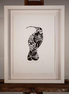 White Box Frame, Kiwiana, Elements Of Art, Box Frames, Screen Printing, Stencils, Original Paintings, Illustration Art, Paper