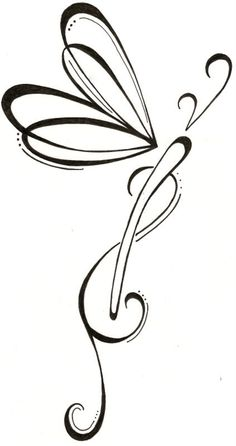 Dragonfly Drawing Original Tattoo via Etsy