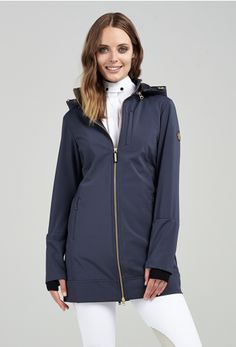 The #AsmarEquestrian limited edition #AllWeatherRider Jacket in #midnightnavy is this #spring #fashion must have