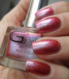 NAILTASTIC: Glitter Gal Red Night Sky