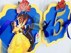 Beauty and the beast banner belle banner belle name banner Beauty And The Beast Theme, Disney Beauty And The Beast, 4th Birthday, Birthday Parties, Name Banners, Baby Party, Princesas Disney, Rapunzel, Party Themes