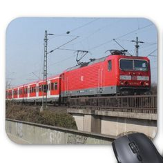 Red German Train Mouse Pads #sold on #zazzle
