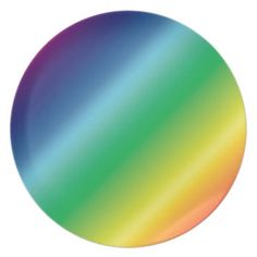 Colorful gradients party plate