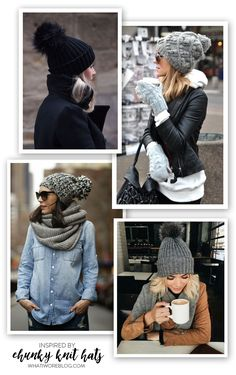 Chunky Knit Hats, Chunky Winter Hats, Chunky Beanies