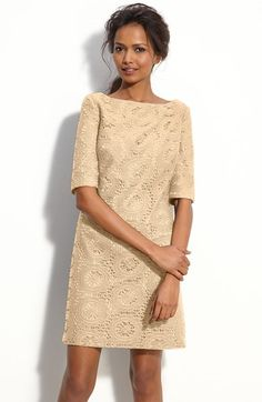 Adrianna Papell Lace Shift Dress (Petite) available at #Nordstrom