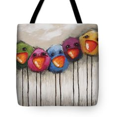 """The Birds Tote Bag 18"""" x 18"""" by Lucia Stewart"""